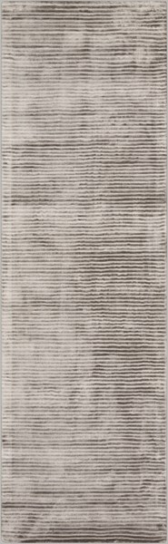 Graphite Contemporary Moss Fabric Hand Loomed Runner GPH53-268