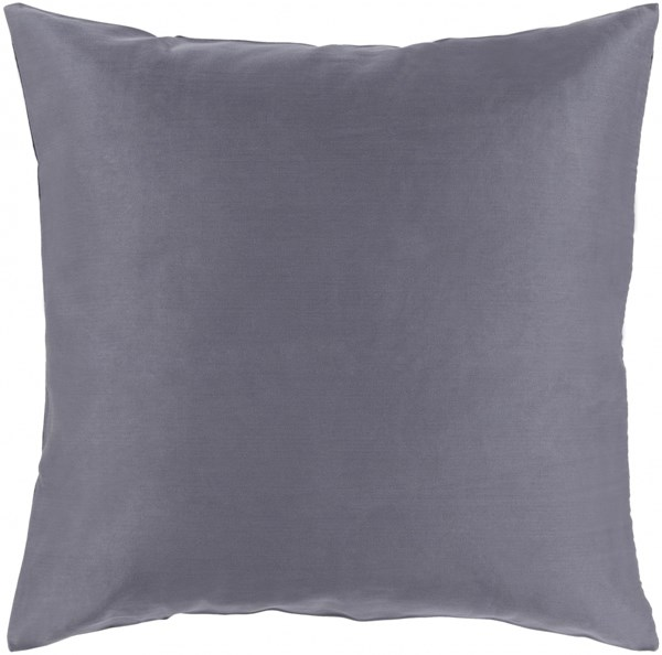 Griffin Pillow with Down Fill in Charcoal - 18 x 18 x 4 GR002-1818D