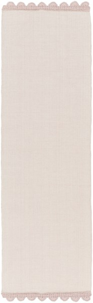 Grace Light Gray Salmon Cotton Runner - 30 x 96 GRC7005-268