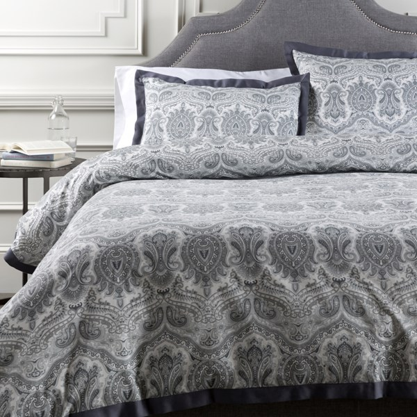 Griffin Pewter Cotton Twin Duvet - 86x68 GRF1000-T