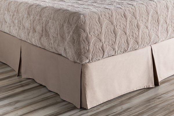 Griffin Mink Cotton King Bed Skirt - 80x78x15 GRF1002-KSKT
