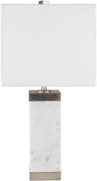 Surya Greenlee White Marble Table Lamp - 11x22.75 GRL-001