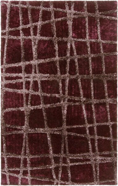 Graph Eggplant Taupe Polyester Area Rug - 60 x 96 GRP2000-58
