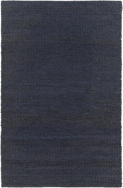Grasshopper Contemporary Navy Fabric Rectangle Area Rug GRS2003-58