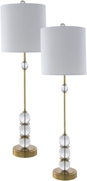 Surya Grantley Crystal Metal Table Lamp - 10x34 GTL-003