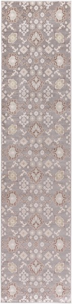 Garnett Traditional Gray Ivory Polypropylene Area Rugs 14354-VAR1