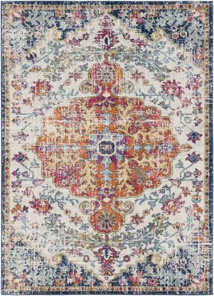 Surya Harput Saffron Light Gray Dark Blue Area Rug - 36 x 24 HAP1000-23