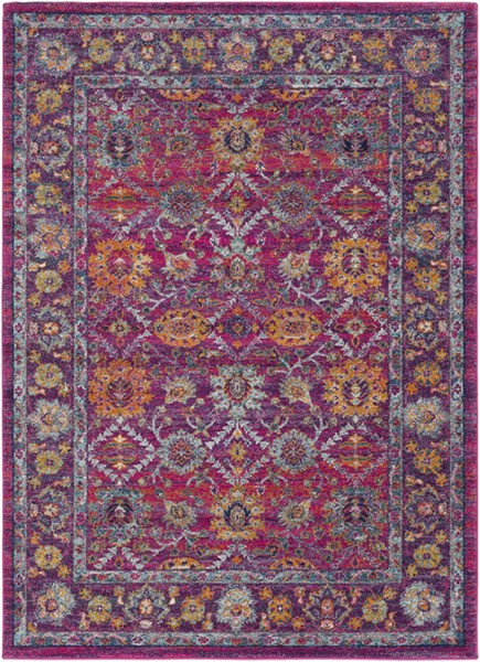 Surya Harput Burnt Orange Saffron White Traditional Area Rug - 123 x 94 HAP1001-710103