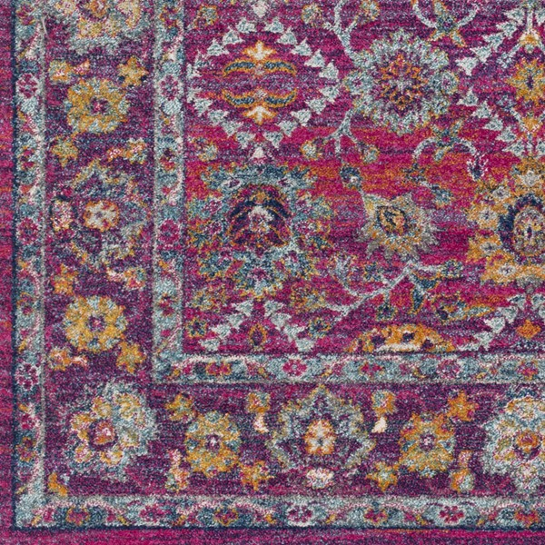 Surya Harput Burnt Orange Saffron White Area Rug HAP1001-1616-RUG-VAR