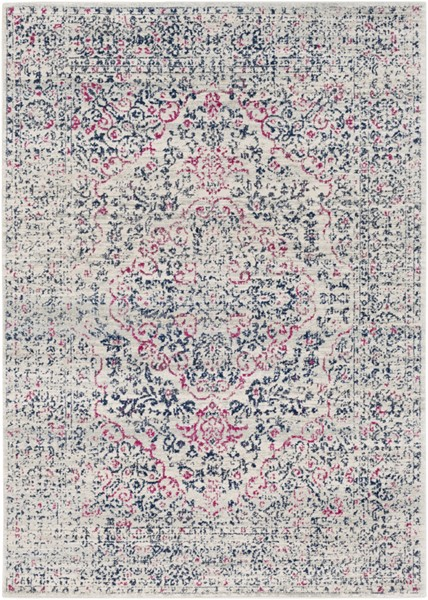 Surya Harput Light Gray Dark Blue Area Rug - 123 x 94 HAP1002-710103