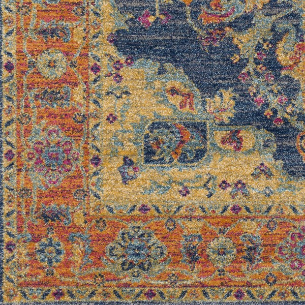 Surya Harput Teal Burnt Orange Dark Blue Area Rug HAP1004-1616-RUG-VAR