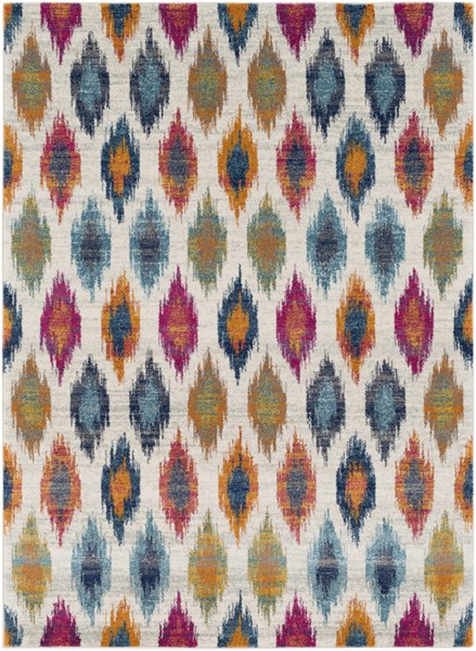 Surya Harput Burnt Orange Light Gray Dark Blue Area Rug - 150 x 111 HAP1005-93126