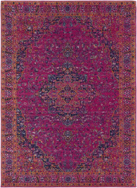 Surya Harput Garnet Burnt Orange Dark Blue Area Rug - 67 x 47 HAP1008-31157