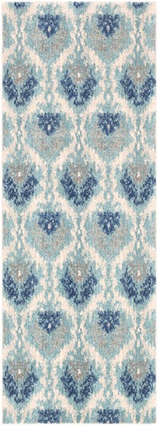 Surya Harput Teal Light Gray Dark Blue Runner - 87 x 31 HAP1012-2773