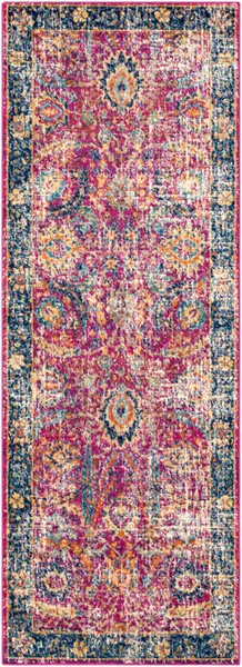 Surya Harput Dark Blue Saffron Burnt Orange Runner - 123 x 31 HAP1013-27103