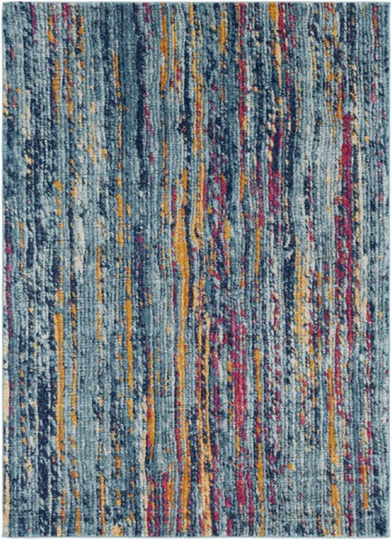 Surya Harput Burnt Orange Dark Blue Area Rug - 87 x 63 HAP1016-5373