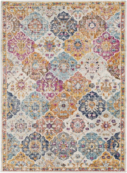 Surya Harput Saffron Burnt Orange Dark Blue Area Rug - 67 x 47 HAP1018-31157