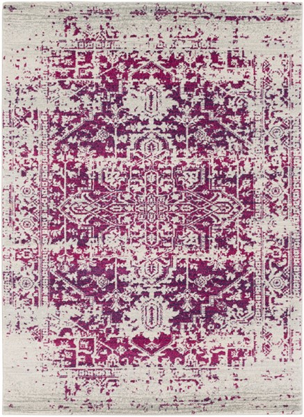 Surya Harput Garnet Light Gray Area Rug - 87 x 63 HAP1020-5373