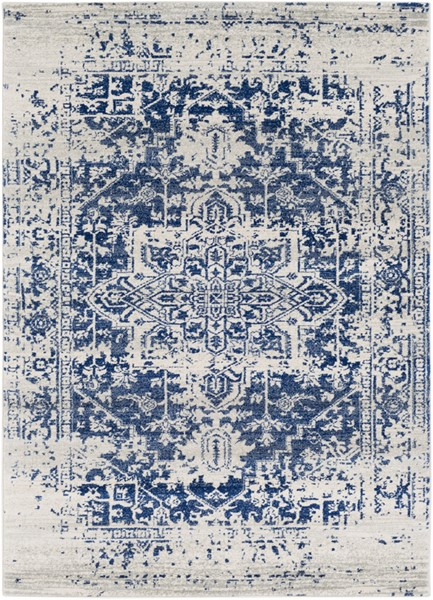Surya Harput Dark Blue Light Gray Area Rug - 150 x 111 HAP1021-93126