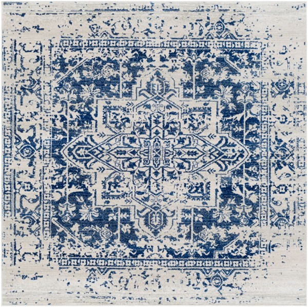 Surya Harput Dark Blue Light Gray Square Area Rug - 79 x 79 HAP1021-67SQ