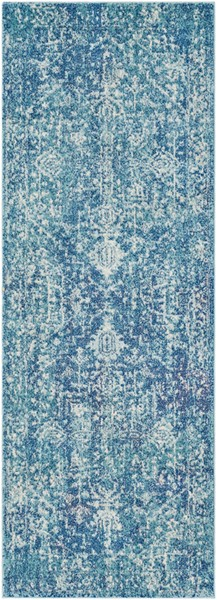 Surya Harput Teal Dark Blue Runner - 87 x 31 HAP1023-2773