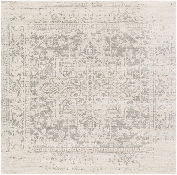 Surya Harput Light Gray Beige Square Area Rug - 79 x 79 HAP1024-67SQ