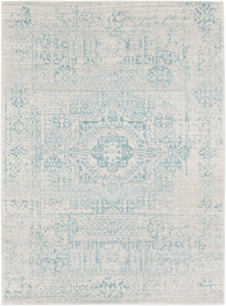 Surya Harput Traditional Teal Light Gray Area Rug - 123 X 94 HAP1026-710103