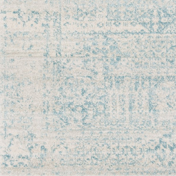 Surya Harput Traditional Teal Light Gray Sample Area Rug - 18 X 18 HAP1026-1616