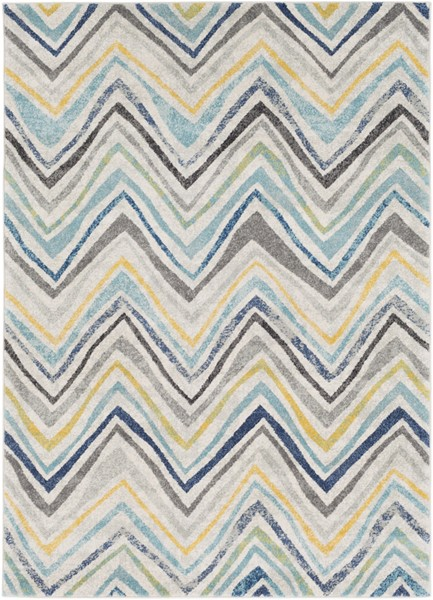Surya Harput Light Gray Charcoal Bright Yellow Area Rug - 36 x 24 HAP1027-23