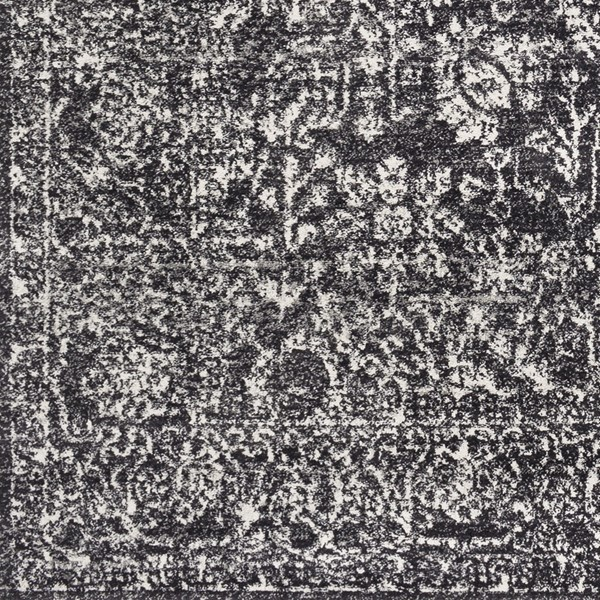 Surya Harput Black Light Gray Charcoal Area Rug HAP1028-1616-RUG-VAR