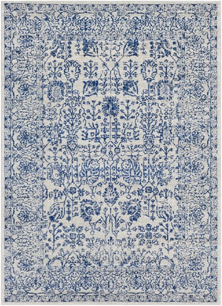 Surya Harput Traditional Dark Blue Light Gray Beige Area Rug - 87 x 63 HAP1030-5373