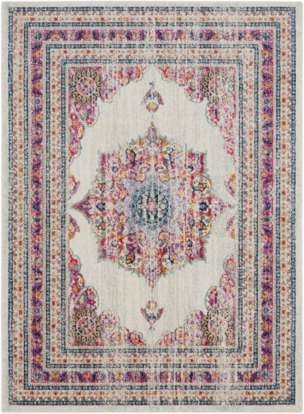 Surya Harput Dark Blue Saffron Light Gray Area Rug - 108 x 79 HAP1033-679