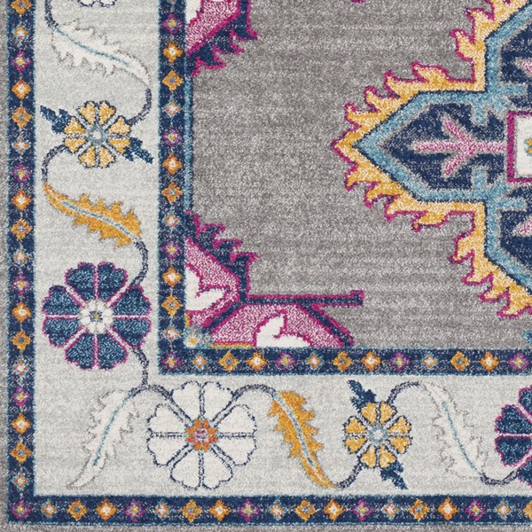 Surya Harput Dark Blue Light Gray Bright Red Area Rug HAP1034-1616-RUG-VAR