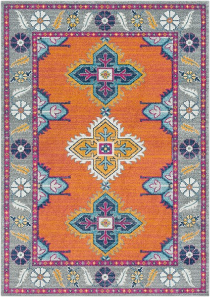 Surya Harput Burnt Orange Light Gray Saffron Area Rug - 150 x 111 HAP1035-93126