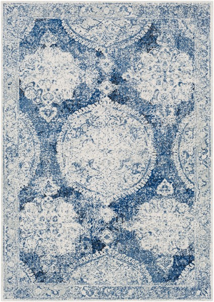 Surya Harput Dark Blue White Light Gray Area Rug - 67 x 47 HAP1039-31157
