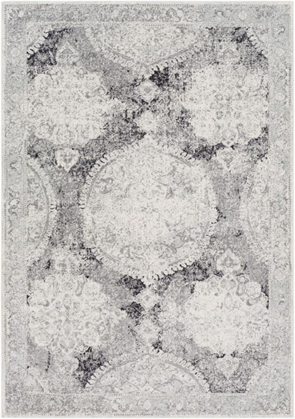 Surya Harput Light Gray White Charcoal Area Rug - 36 x 24 HAP1041-23