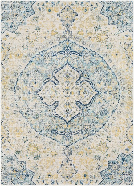Surya Harput Teal White Bright Yellow Area Rug - 67 x 47 HAP1047-31157
