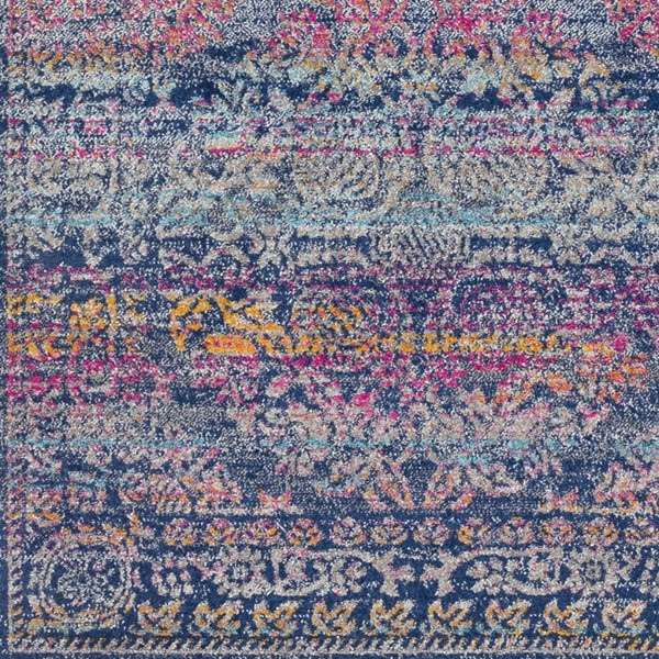 Surya Harput Dark Blue Burnt Orange Saffron Sample Area Rug - 18 x 18 HAP1054-1616
