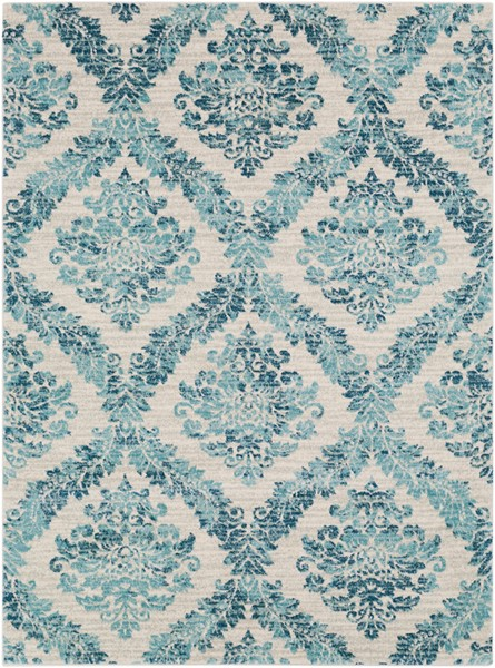 Surya Harput Dark Blue Light Gray Teal Area Rug - 87 x 63 HAP1055-5373
