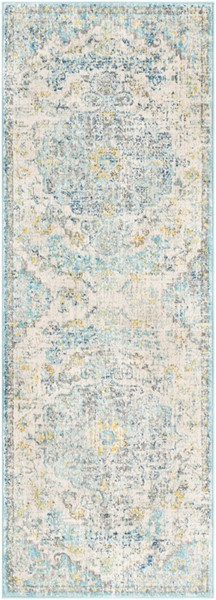 Surya Harput Light Gray Teal Charcoal Runner - 87 x 31 HAP1065-2773