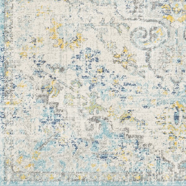 Surya Harput Light Gray Teal Charcoal Sample Area Rug - 18 x 18 HAP1065-1616