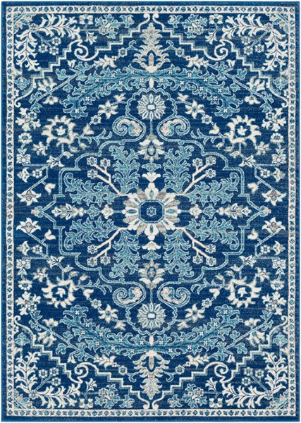 Surya Harput Beige Light Gray Dark Blue Area Rug - 67 x 47 HAP1068-31157
