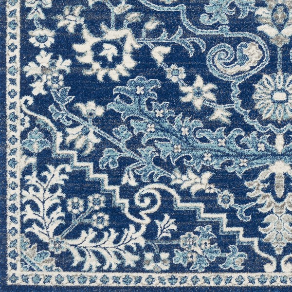 Surya Harput Beige Light Gray Dark Blue Sample Area Rug - 18 x 18 HAP1068-1616