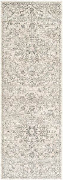 Surya Harput Traditional Light Gray Charcoal Beige Runner - 87 x 31 HAP1069-2773