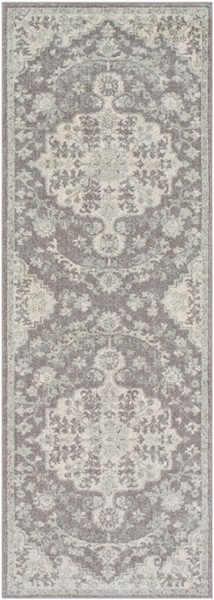 Surya Harput Light Gray Charcoal Beige Rectangle Runner - 87 x 31 HAP1070-2773