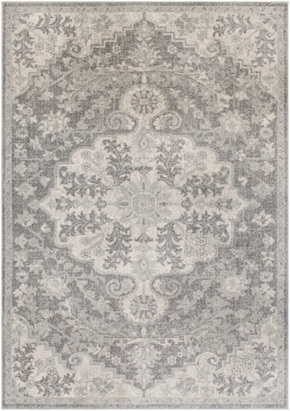 Surya Harput Light Gray Charcoal Beige Rectangle Area Rug - 150 x 111 HAP1070-93126