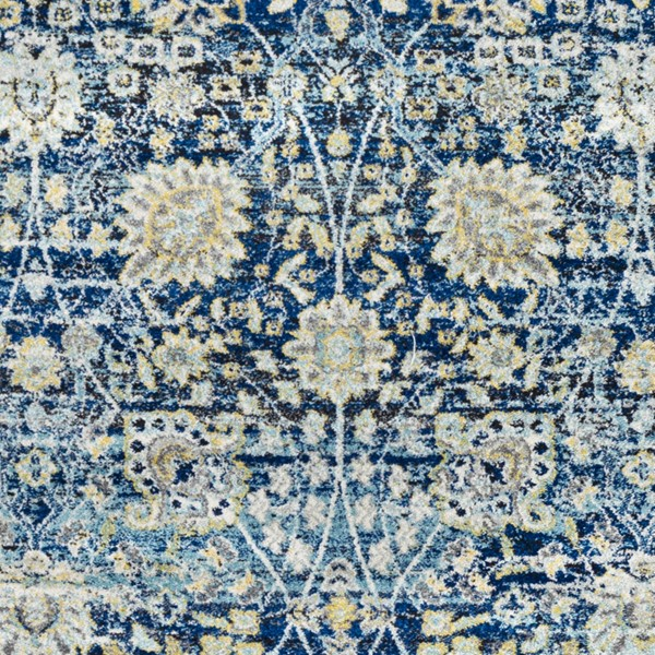 Surya Harput Bright Blue Charcoal White Sample Area Rug - 18 x 18 HAP1073-1616