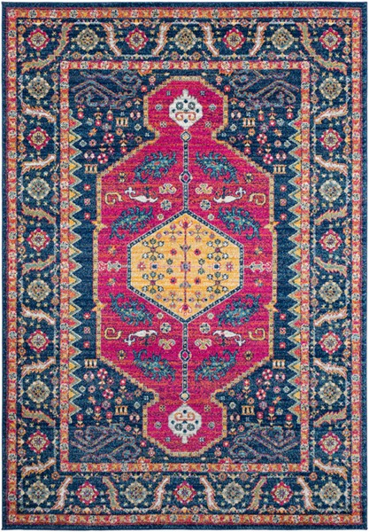 Surya Harput Traditional Dark Blue Saffron Burnt Orange Area Rug - 150 x 111 HAP1075-93126