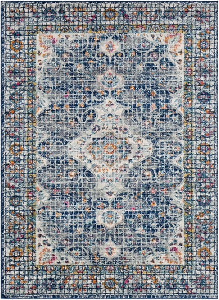 Surya Harput Dark Blue Charcoal White Area Rug - 150 x 111 HAP1085-93126