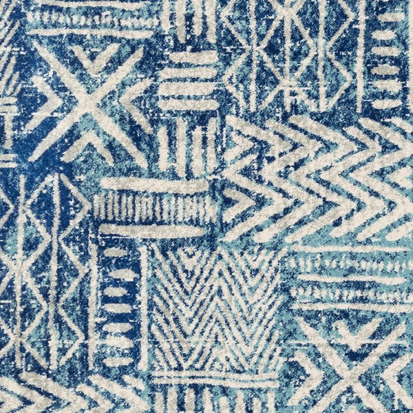 Surya Harput Bright Blue Aqua Light Gray Area Rug HAP1092-1616-RUG-VAR